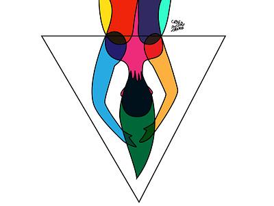 Chica Vitral 5 | Stained Glass Girl 5 design digital art vector illustration