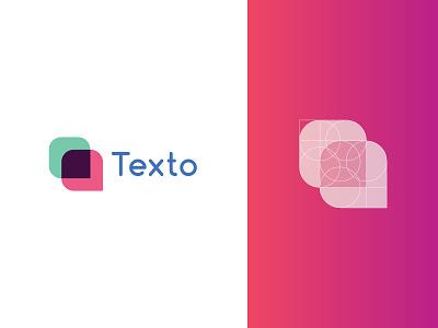 Texto Logo Design logodesign brand identity logo 2d design flatlogo geometric