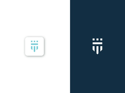 Minimal shield logo and icon icon design logo design monogram logo monogram creative icon creative logo minimalist logo flatlogo shield logo minimal icon minimal logo