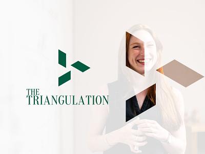 the triangulation isometric flat minimal simple logo geometric minimalist logo logo design logodesign flatlogo branding brand identity