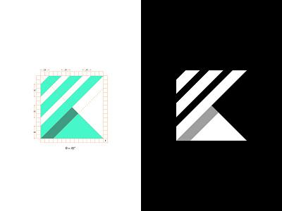 K letter logo initial letter logo simple logo minimalist logo geometric flatlogo brand identity k monogram k letter k logo letter logo abstract logo marks abstract logo lettermarkexploration lettermark logo lettermark