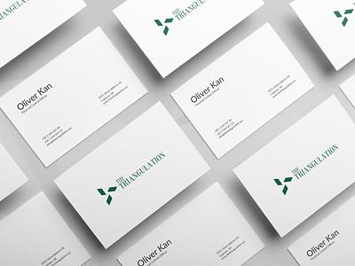 The Triangulation - Business card print design abstract geometric flat design mockup stationery design minimal brand identity classic classy designer logo design business card design logo simple