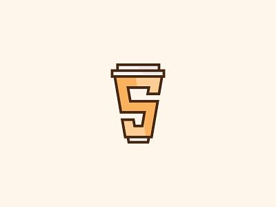 Coffee shop logo mark design geometric branding brand identity s logo mark logo mark typography logo typography art typography logo grid s letter mark paper cup flatlogo coffeeshoplogo design logo coffeeshop