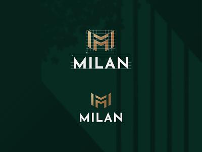 Milan logo design bold logo typography geometric logodesign minimalist logo flatlogo simple logo m letter logo streetwear logo urban logo clothing logo clothing brand m logo monogram brand identity branding
