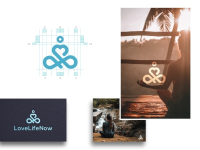Yoga Meditation Logo and Brand Design flatlogo illustration brand identity geometric minimalist logo simple logo brand branding designer design logo zen tantra spa meditation yoga