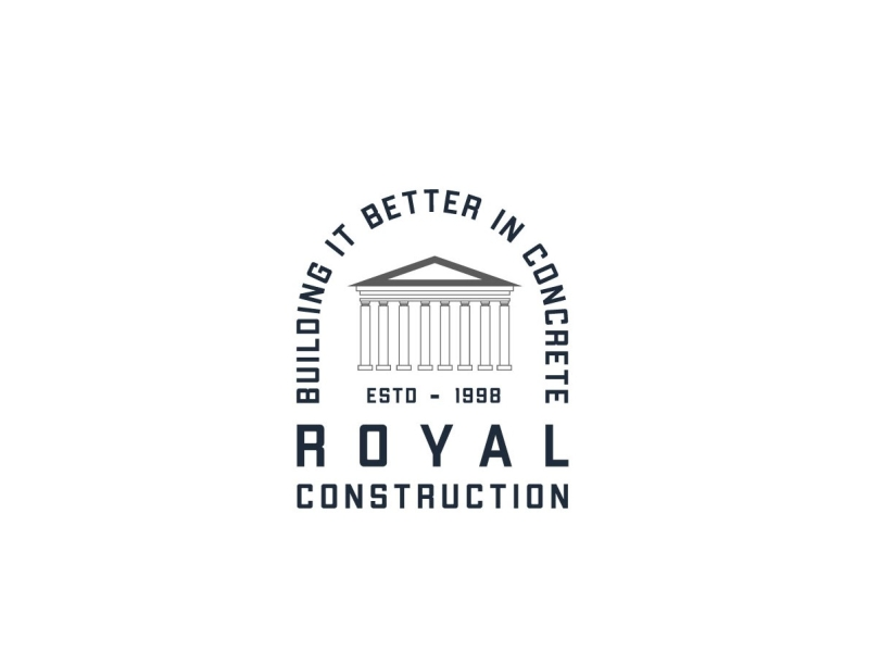 Royal construction logo by Hassaan Khan on Dribbble