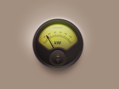Energy Meter icons 3d meter cool graphic design