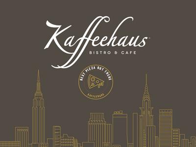 Kaffehaus identity bistro restaurant design icon graphic design