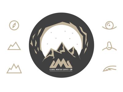 Mountain Badge illustration icon mountain