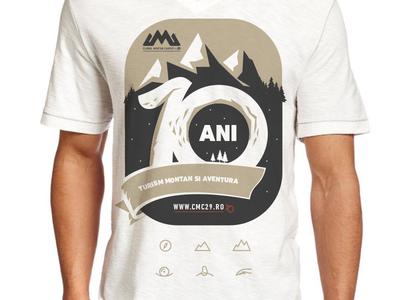 Anniversary T-Shirt illustration badge anniversary t-shirt