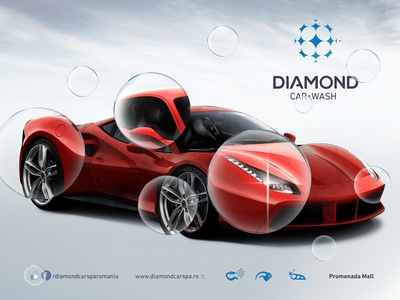 Car Wash Concept design graphic advertising automotive car