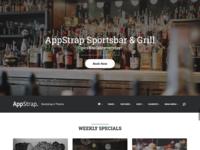 Appstrap Restaurant Homepage