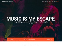 Appstrap Music Homepage