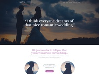 Wedding one pager design coming soon.