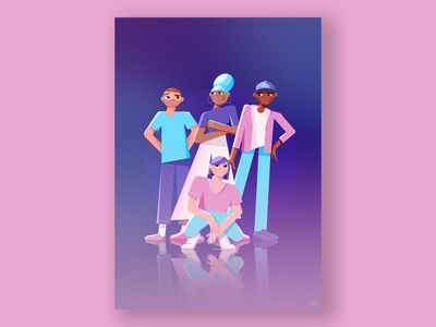 Draw For Young Lives photoshop procreate characterdesign blue pink people posterdesign poster mental health awareness mentalhealth character illustration