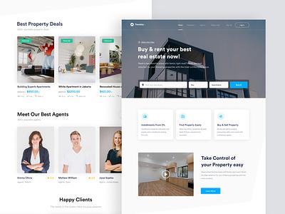 Twostay - Web Page website design property locations stay hotel booking brokerage agents designer designs real estate web design website web branding minimal ux ui design app