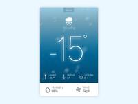 Experimental Card Design Weather