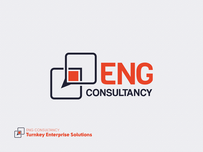 ENG Consultancy icon illustration logo design branding