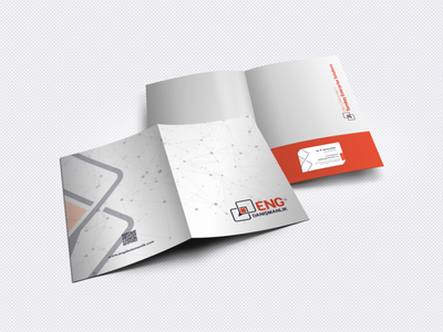 ENG Consultancy logo branding design folder