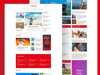 News & Blog PSD Template