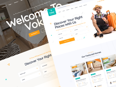 Voker - Booking and Rentals PSD Template