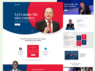Election & Political PSD Template