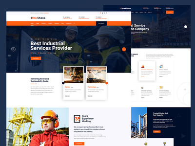Industry & Factory PSD Template