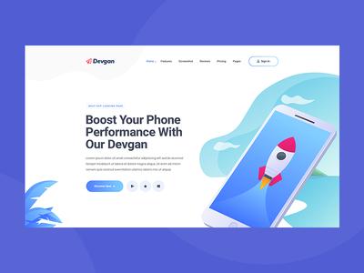 App Landing PSD Template