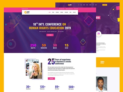 Event Management PSD Template