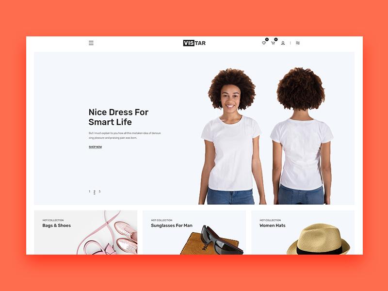 eCommerce PSD Template illustration clean design cart uiux ui ecommerce