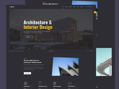 Architecture & Interior PSD Template