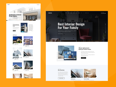 Architecture & Interior PSD Template
