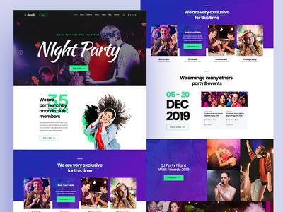 Night Club & Event PSD Template