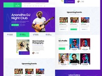 Night Club PSD Template