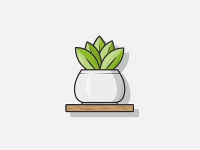 Potted Plant potted plant plant illustration design flat