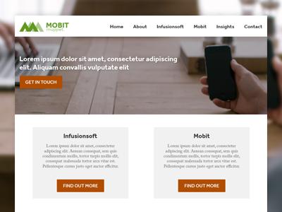 Mobile Marketing Company marketing website mobile design