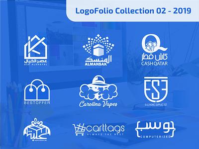 LogoFolio Collection 02 - 2019 website web vector ux ui typography logo alphabet logo a day logo 3d logo 2d illustrator illustration identity icon flat design clean branding animation logo