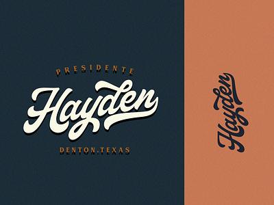 Hayden - Tshirt Logo Project vintage design logo text logo tshirt logo script font logotype font design vintage logo typeface lettering artist vintage retro lettering logo lettering