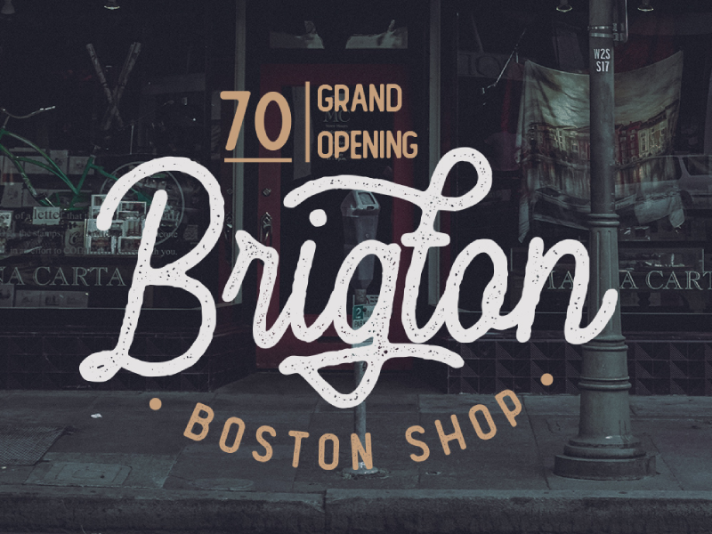 Vintage Lettering Logo by Vultype Co on Dribbble