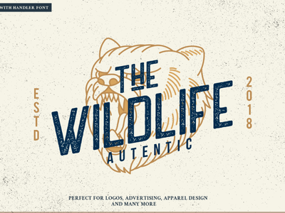 Vintage Grizzly Bear Logo