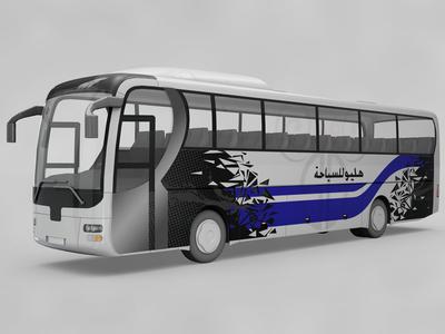 Free travelling bus Design Mockup