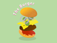 Burger illustration burger drawing sketching animation illustration icon flat logo vector