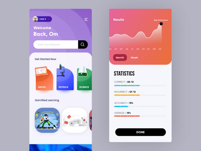 EdTech App Concept uiuxdesign userexperience icon illustration user uiux prototype figmadesign design ui uidesign figma uidesigns app