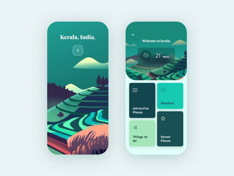 Travel Guide - App Concept adobe adobexd userexperience user ux uidesigner uiuxdesign uiux uidesigns uidesign ui design app