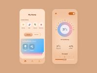 Smart Home App - UI Concept Shot userexperience user ux uidesigner uiuxdesign uiux uidesigns uidesign ui design app