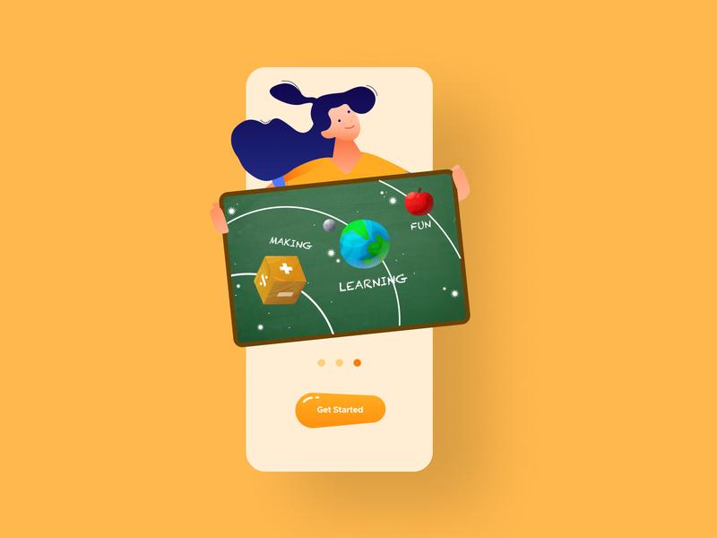 Kids Learning App cta cta button onboarding chalkboard kids app learning app learning kids uidesigner ui design app uiux uidesigns uidesign
