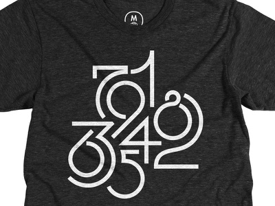 Numeric -- one week left typography lettering t-shirt tri-blend monochrome numeric numbers cotton bureau tshirt tee