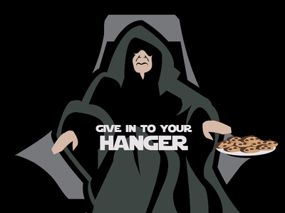 Give in to your hanger cookies jedi star wars palpatine emperor hangry hanger tshirt tee t-shirt derby woot