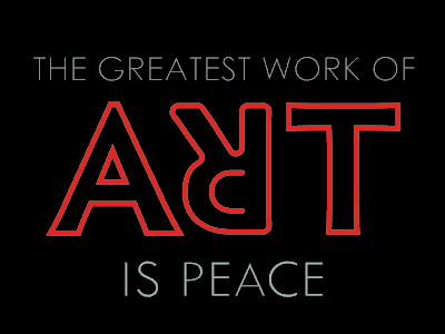 Art is peace vote derby woot tshirt tee t-shirt typography lettering