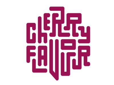 Cherry Flavour Jigsaw Type jigsaw type cherry rebound typography lettering
